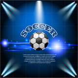 Fondo ligero azul abstracto EPS 10 del fútbol del fútbol Foto de archivo libre de regalías