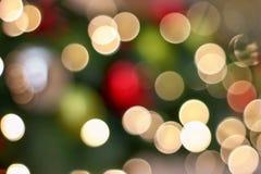 Fondo ligero brillante del extracto de Colorfull del bokeh de la Navidad Imagen de archivo