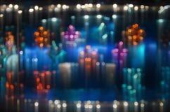 Fondo ligero colorido del extracto de Bokeh Luz de la falta de definición de movimiento Fotografía de archivo