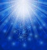 Fondo ligero con los rayos, invierno de Navidad que riela ilustración del vector