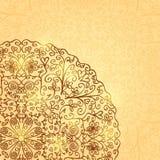 Fondo ligero con media Mandala Ornament Imágenes de archivo libres de regalías