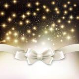 Fondo ligero de la Navidad del día de fiesta con la seda blanca Imágenes de archivo libres de regalías