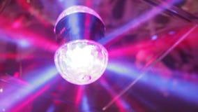Fondo ligero de la noche del disco del centelleo de la lámpara almacen de metraje de vídeo