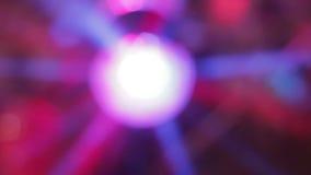 Fondo ligero de la noche del disco del centelleo de la lámpara almacen de video