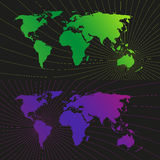 Fondo ligero de la red del mundo de la ubicación Imagen de archivo