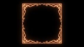 Fondo ligero de oro floral elegante del marco stock de ilustración