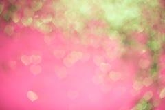 Fondo ligero del bokeh de los corazones imagen de archivo libre de regalías