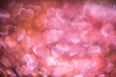 Fondo ligero del bokeh de los corazones fotografía de archivo libre de regalías