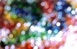 Fondo ligero del bokeh del arco iris Fotografía de archivo