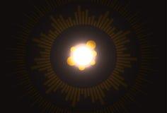 Fondo ligero del círculo Imagen de archivo libre de regalías