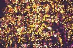 Fondo ligero del día de tarjeta del día de San Valentín de los corazones abstractos Defocused Imagenes de archivo