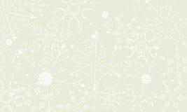 Fondo ligero del invierno con los copos de nieve grandes Foto de archivo