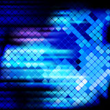 Fondo ligero del mosaico de los rayos azules Fotografía de archivo libre de regalías
