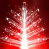 Fondo ligero del vector del árbol de navidad Fotografía de archivo libre de regalías