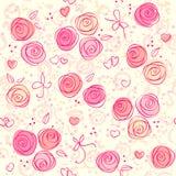 Fondo ligero floral inconsútil del vector Imágenes de archivo libres de regalías
