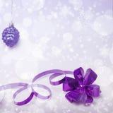 Fondo lilla della tinta di Natale Fotografie Stock Libere da Diritti