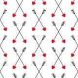 Fondo lindo de las flechas de la travesía para el día de tarjeta del día de San Valentín ilustración del vector
