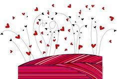 Fondo lindo de los corazones Imágenes de archivo libres de regalías