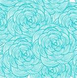 Fondo lineare dei fiori del turchese Fotografia Stock