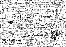 Fondo lineare del cerchio di istruzione di matematica di per la matematica con geometr illustrazione di stock