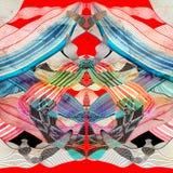 Fondo lineare multicolore astratto delle onde Fotografia Stock Libera da Diritti