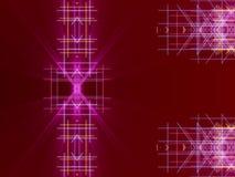 Fondo, linee e luce astratti rossi Fotografia Stock
