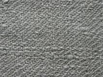 Fondo, lino grigio del tessuto fatto a mano fotografie stock