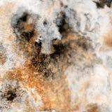 Fondo liquido astratto dell'oro Modello con le onde dorate e nere astratte marmo Superficie fatta a mano Pittura liquida Fotografia Stock