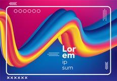 Fondo liquido astratto di colore Priorità bassa geometrica moderna Composizione fluida in pendenza per l'insegna, manifesto, cope Fotografia Stock