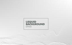 Fondo liquido astratto di vettore di moto flusso della particella 3d Progettazione minima illustrazione di stock