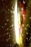 Fondo liquido rosso di verde delle bolle di sapone Immagini Stock