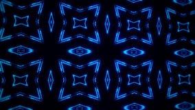 Fondo llevado azul del movimiento del lazo del caleidoscopio VJ de las partículas que brilla intensamente stock de ilustración