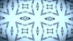 Fondo llevado azulado negro del movimiento del lazo del caleidoscopio VJ de las partículas ilustración del vector