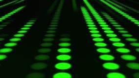 Fondo llevado de neón verde del movimiento del lazo de Dots Circles VJ