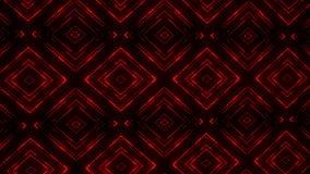 Fondo llevado rojo del movimiento del lazo de los cuadrados VJ de las partículas que brilla intensamente ilustración del vector