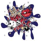 Fondo loco del extracto del punk rock del vector Imagenes de archivo