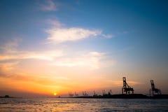 Fondo logístico de las importaciones/exportaciones Foto de archivo