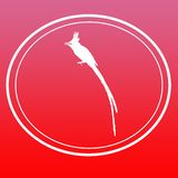 Fondo Logo Banner di immagine del pigliamosche di Paradise dell'asiatico dell'uccello royalty illustrazione gratis