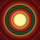 Fondo Looney del extracto del círculo del estilo de los tonos Fotos de archivo