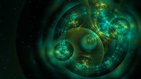 Fondo loopable colorido abstracto del fractal en color verde ilustración del vector