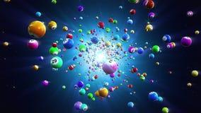 Fondo loopable de las bolas de la lotería stock de ilustración