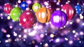 Fondo loopable di Natale con le palle piacevoli stock footage