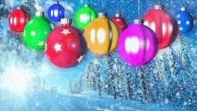 Fondo loopable di Natale con le palle piacevoli archivi video