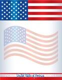 Fondo los Estados Unidos de América del cartel de la plantilla de la bandera americana de los E.E.U.U. Fotografía de archivo libre de regalías