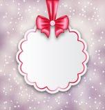 Fondo luccicante con la carta di carta di celebrazione per il biglietto di S. Valentino Immagini Stock