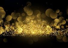 Fondo luccicante della scintilla dell'oro Immagini Stock Libere da Diritti