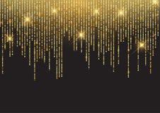 Fondo luccicante della scintilla dell'oro royalty illustrazione gratis