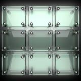 Fondo lucidato del metallo con vetro Immagini Stock Libere da Diritti