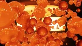 fondo lucido arancio lucido d'ardore di animazione di logo di introduzione delle sfere del fondo 3d di logo di introduzione delle archivi video