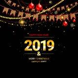 Fondo lucido del nuovo anno royalty illustrazione gratis